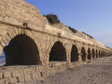 A Relatively Intact Roman Aqueduct Near the Mediterranean Sea