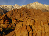 Alabama Hills Looking Towards Sierras  Owens Valley  California  USA