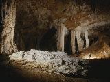 A Fallen Column Litters the Cave Floor