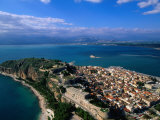 Aerial View of Nafplio (Nauplion) from Palamidi Fort  Nafplio  Greece