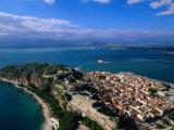 Aerial View of Nafplio (Nauplion) from Palamidi Fort  Nafplio  Greece