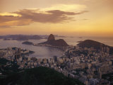 Elevated View of Rio De Janeiro and Sugar Loaf Mountain