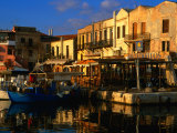 Venetian Buildings Make Up Rethymno Harbour  Rethymno  Crete  Greece