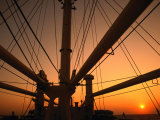 Sunset Through the Mast of SS Shanghai  China