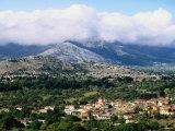 Overhead of Village  Lassithi Province  Agios Georgios  Greece
