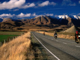 Motorcyle Touring Through the Countryside Around Maniototo  Otago  New Zealand