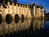 Chateau De Chenonceau along Cher River  Tours  France