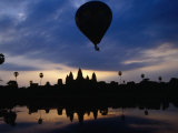 Hot Air Balloon Over Angkor Wat  Angkor  Cambodia