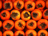 Persimmons from a Stall in the Central Market  Athens  Attica  Greece