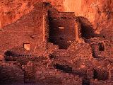 Pueblo Bonito at Sunset  Chaco Culture National Historical Park  USA