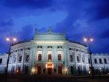 Burgtheater at Dusk  Innere Stadt  Vienna  Austria