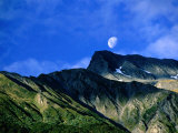 Moonrise Over Mt Broome  Mt Aspiring National Park  Otago  New Zealand
