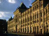 Late Evening at the Old Stock Exchange Building on Red Square  Moscow  Russia