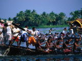 Men in Annual Nehru Cup Snake Boat Race  Alappuzha  India