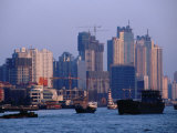 City Skyline and Construction  Shanghai  China