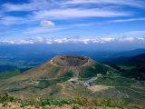 Crater of Zuma-Kofuji (Azuma's Little Mt Fuji) on Bandai-Azuma Skyline  Fukushima  Japan