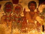 Primitive Paintings in Petros and Paulus Melehayzenghi Church  Teka Tesfai  Tigray  Ethiopia