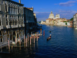 Buildings at Northern Mouth of Grand Canal  Venice  Italy