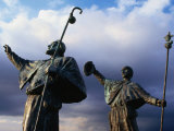 Pilgrim Statues  Santiago De Compostela  Spain