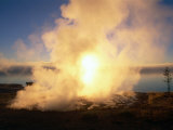 Hot Spring at Sunrise in West Thumb Geyser Basin  Yellowstone National Park  USA