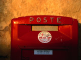 Red Post Box  Tuscany  Italy