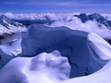 North from Nevado Artesonraju  Cordillera Blanca  Ancash  Peru
