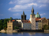 Smetana Museum  Bridge Tower and Church of St Francis Seraphinus  Prague  Czech Republic