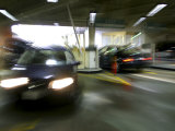 Blurred Image of Cars in a Parking Garage