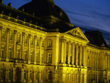 19th Century Palais Royal (Royal Palace) in Brussels at Twilight  Brussels  Belgium
