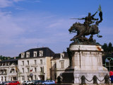 Statue of Joan of Arc in Place Jeanne d'Arc  Chinon  France