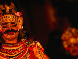 Legong Dancer in Mask During Performance  Ubud  Indonesia