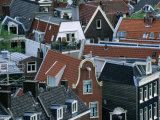 Overhead of Gabled Houses in the Joordan Area  from Tower of Westerkerk  Amsterdam  Netherlands