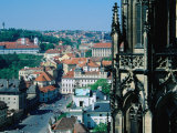 Hradcany District from Roof of St Vi'Ta  Prague  Czech Republic