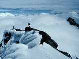 Mountaineers on Ridge of Alexandra Peak  Mount Stanley  Ruwenzori National Park  Kasese  Uganda