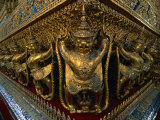 Garudas on Temple of the Emerald Buddha  Wat Phra Kaew  Bangkok  Bangkok  Thailand