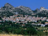 Village of Aggius Surrounded by Lunar Landscape  Sassari  Sardinia  Italy
