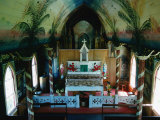 Interior of St Benedict&#39;s Painted Church  Big Island  Hawaii  USA