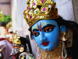 Papier Mache Effigy to Be Used in Religious Procession  Delhi  India