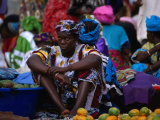 A Woman Selling Oranges at the Albert Market in Banjul  Banjul  Western  Gambia  The