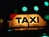 Taxi Light at Night  Adelaide  Australia