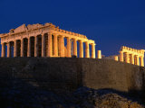 Acropolis at Night  Athens  Greece