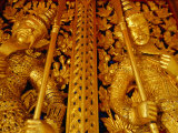 Traditional Guardians Inside Grand Palace  Bangkok Thailand