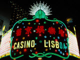 Neon Signs of Casino Lisboa  Macau  China
