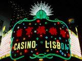 Neon Signs of Casino Lisboa  Macau  China