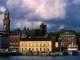 Harbour and City Buildings  Helsingborg  Skane  Sweden