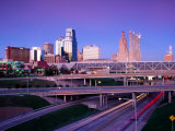 City Skyline with Freeway in Foreground  Kansas City  USA