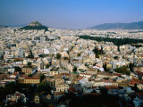 Lykavittos Hill and Cityscape  Athens  Greece