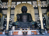 Largest Sitting Buddha in Country  Housed in Temple in Katsuyama  Japan