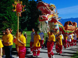 "Dragon Dancers for ""Walk with the Dragon"" Event in Stanley Park  Vancouver  Canada"
