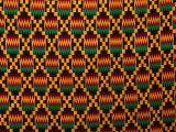 Detail of Hand-Woven Asante Ceremonial Cloth  Hohoe  Volta  Ghana